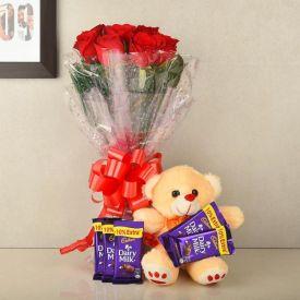 Red Rose, Cadbury Dairy Milk & Soft toy